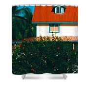 Red Roof Home Shower Curtain