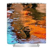 Red Roof Tile Reflection 29412 Shower Curtain