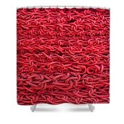 Red Rope Stack Shower Curtain
