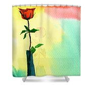 Red Rose 1 Shower Curtain by Anil Nene