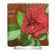 Red Rose Autumn Texture Thank-you  Shower Curtain