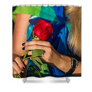Red Rose - Featured 3 Shower Curtain