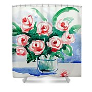 Red Rose For Her Shower Curtain