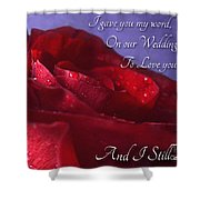 Red Rose Romantic Greeting Card Shower Curtain