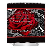 Red Rose Valentine Shower Curtain