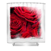 Red Roses. Elegant Knickknacks Shower Curtain