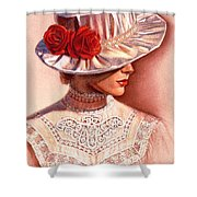 Red Roses Satin Hat Shower Curtain