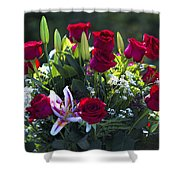 Red Roses Say I Love You Shower Curtain