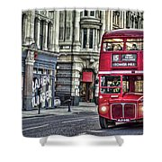 Red Routemaster Shower Curtain