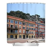 Red Row Houses In Nice Shower Curtain