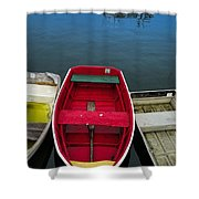 Red Rowboat Shower Curtain