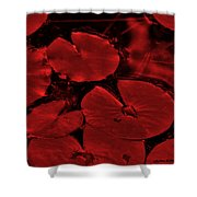 Red Ruby Tuesday Shower Curtain