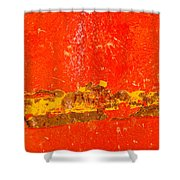 Red Rusty Backgound Shower Curtain