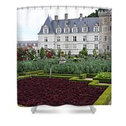 Red Salad And Cabbage Garden - Chateau Villandry Shower Curtain