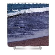 Red Sand Beach Abstract Shower Curtain