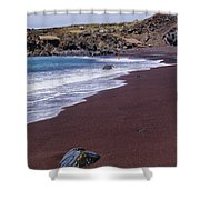 Red Sand Beach Shower Curtain
