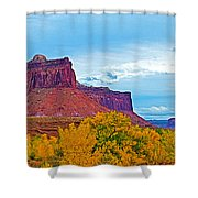 Red Sandstone Formations Going Into Needles District Of Canyonlands National Park-utah Shower Curtain