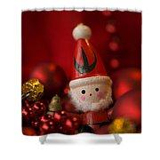 Red Santa Shower Curtain