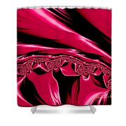 Red Satin Shower Curtain