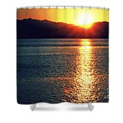 Red Sea Gold Shower Curtain