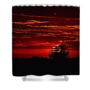 Red Set Shower Curtain