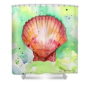 Red Shell Shower Curtain