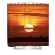 Red Skies Shower Curtain
