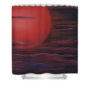 Red Sky A Night Shower Curtain