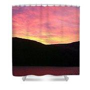 Red Sky At Morning Sailors Take Warning Shower Curtain