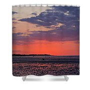 Red Sky At Sword Beach Shower Curtain