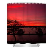 Red Sky In The Morning Two Shower Curtain