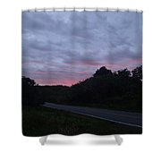 Red Sky Road Shower Curtain
