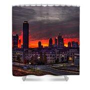 Red Sky Sunrise Midtown Atlanta Shower Curtain