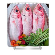Red Snappers Shower Curtain