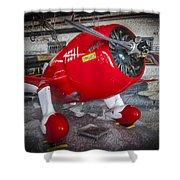 Red Speedster Shower Curtain