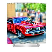 Red Sport Car Shower Curtain