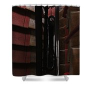 Red Staircase Shower Curtain