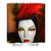 Red Streak Shower Curtain