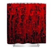 Red Streaks Shower Curtain