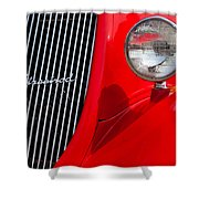 Red Streetrod Shower Curtain