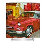 Red Studebaker Shower Curtain