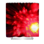 Red Sun Shower Curtain