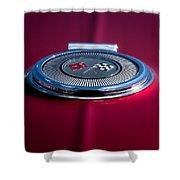 Red Sunburst Shower Curtain