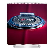 Red Sunburst Shower Curtain