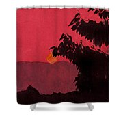 Red - Sunset Shower Curtain