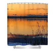 Red Sunset. Valencia Shower Curtain