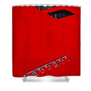 Red Supercar Shower Curtain