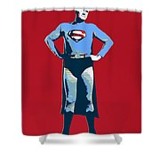 Red Superman Shower Curtain