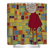 Red Sweater Day Shower Curtain