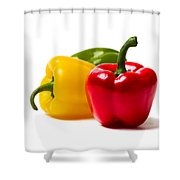 Red Sweet Pepper Shower Curtain